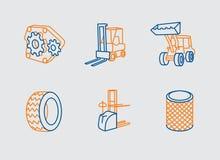 Εξοπλισμός φόρτωσης απεικόνιση αποθεμάτων