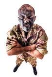 Εξοργισμένος στρατιώτης στοκ εικόνες