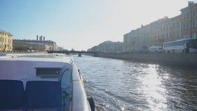 Εξορμήσεις νερού στη Αγία Πετρούπολη απόθεμα βίντεο