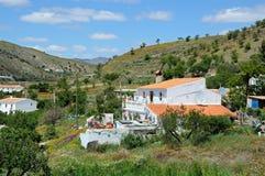 Εξοχικά σπίτια, Ανδαλουσία. Στοκ Εικόνες