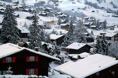 εξοχικά σπίτια Ελβετός στοκ φωτογραφία