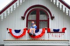 Εξοχικά σπίτια μελοψωμάτων, αμπελώνας της Martha ` s, μΑ, ΗΠΑ Στοκ Εικόνα