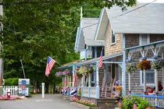 Εξοχικά σπίτια μελοψωμάτων, αμπελώνας της Martha ` s, μΑ, ΗΠΑ Στοκ Φωτογραφίες