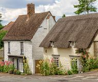 Εξοχικά σπίτια στο μεγάλο χωριό του Milton, ευρύτερη περιοχή Οξφόρδης, Αγγλία Στοκ Εικόνες