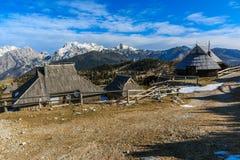 Εξοχικά σπίτια στο planina Velika Στοκ Εικόνες