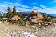 Εξοχικά σπίτια στο planina Velika Στοκ Φωτογραφία