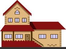 Εξοχικό σπίτι Σπίτι Διανυσματική έννοια απεικόνισης Απομονώστε στο λευκό Στοκ Εικόνες