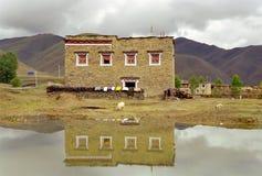 εξοχικό σπίτι Θιβετιανός Στοκ Φωτογραφία