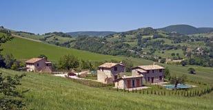 εξοχικό σπίτι ιταλικά στοκ εικόνα