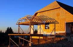 εξοχικό σπίτι κατασκευής Στοκ Εικόνες