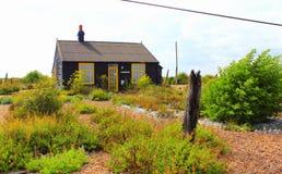 Εξοχικό σπίτι Κεντ Αγγλία επιφύλαξης φύσης Dungeness Στοκ Φωτογραφία