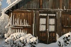 εξοχικό σπίτι παγωμένο Στοκ Εικόνες