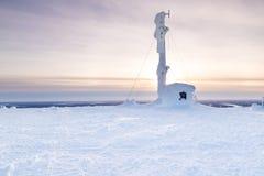 εξοχικό σπίτι παγωμένο Στοκ φωτογραφία με δικαίωμα ελεύθερης χρήσης