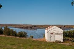 Εξοχικό σπίτι σε Borgarfjordur Ισλανδία Στοκ εικόνα με δικαίωμα ελεύθερης χρήσης