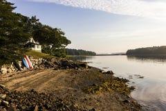 Εξοχικό σπίτι στο νησί ξαδέλφων, Μαίην στοκ εικόνα με δικαίωμα ελεύθερης χρήσης