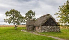 Εξοχικό σπίτι στο πεδίο μάχη Culloden Στοκ Φωτογραφία