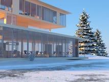 εξοχικό σπίτι σύγχρονο Στοκ φωτογραφίες με δικαίωμα ελεύθερης χρήσης