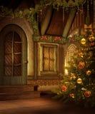 εξοχικό σπίτι Χριστουγένν&o ελεύθερη απεικόνιση δικαιώματος