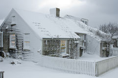 εξοχικό σπίτι Χριστουγένν&o Στοκ Εικόνες