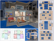 Εξοχικό σπίτι. απεικόνιση αποθεμάτων