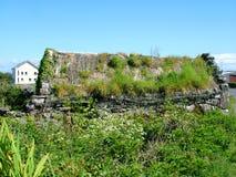 Εξοχικό σπίτι Thatched σε Inis Mor Στοκ φωτογραφία με δικαίωμα ελεύθερης χρήσης