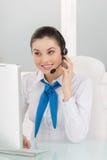 Εξυπηρέτηση πελατών αντιπροσωπευτική στην εργασία. Στοκ φωτογραφία με δικαίωμα ελεύθερης χρήσης