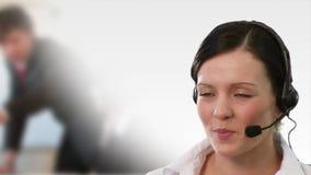 Εξυπηρέτηση πελατών Represenative απόθεμα βίντεο