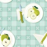 Εξυπηρετούμενα μήλο και αχλάδι διανυσματική απεικόνιση