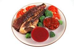 εξυπηρετούμενη roast μπριζόλα στοκ φωτογραφίες
