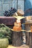 Εξυπηρετούμενο πικάντικο τυρί Στοκ εικόνα με δικαίωμα ελεύθερης χρήσης