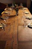 Εξυπηρετώντας επιτραπέζιο σύνολο γευμάτων Στοκ Εικόνες