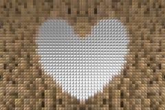 Εξωθήστε το αφηρημένο υπόβαθρο μορφής καρδιών Στοκ εικόνες με δικαίωμα ελεύθερης χρήσης