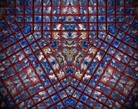Εξωθημένο περίληψη πλέγμα τριγώνων απεικόνισης mandala τρισδιάστατο απεικόνιση αποθεμάτων