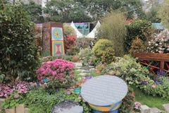 Εξωραϊσμένος κήπος λουλουδιών στο HK Στοκ Εικόνες