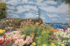 Εξωραϊσμένος κήπος λουλουδιών στο HK Στοκ Εικόνα