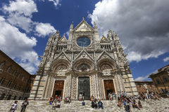Εξωτερικά και λεπτομέρειες του καθεδρικού ναού της Σιένα, Σιένα, Ιταλία Στοκ Εικόνα