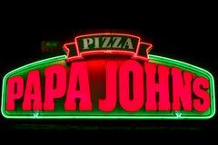 Εξωτερικά σημάδι και λογότυπο του John ` s μπαμπάδων Στοκ Εικόνα