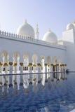 Μεγάλο μουσουλμανικό τέμενος Αμπού Νταμπί Στοκ Φωτογραφία