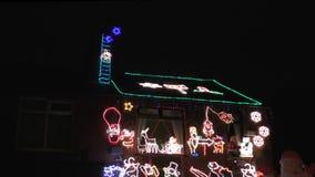 Εξωτερικές διακοσμήσεις σπιτιών Χριστουγέννων απόθεμα βίντεο