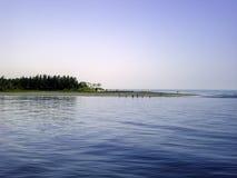 Εξωτερική άκρη της θάλασσας παραλία-Μπανγκλαντές νησιών του ST Martin Στοκ φωτογραφία με δικαίωμα ελεύθερης χρήσης