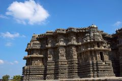 Εξωτερική άποψη Ναός Hoysalesvara, Halebid, Karnataka, 12ος αιώνας Ναός Shiva Στοκ φωτογραφίες με δικαίωμα ελεύθερης χρήσης