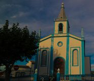 Εξωτερική άποψη στην εκκλησία, Angra do Heroismo, Terceira, Πορτογαλία Στοκ εικόνα με δικαίωμα ελεύθερης χρήσης