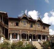 Εξωτερική άποψη στο σπίτι Rimbaud και το μουσείο, Harar, Jugol, Αιθιοπία Στοκ Εικόνα