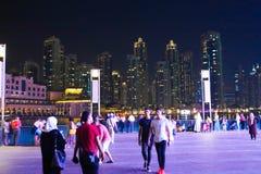 Εξωτερική άποψη της λεωφόρου του Ντουμπάι Στοκ Φωτογραφία