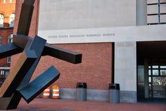Εξωτερική άποψη του αναμνηστικού μουσείου ολοκαυτώματος στο Washington DC, ΗΠΑ Στοκ Φωτογραφία