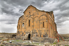 Εξωτερική άποψη του καθεδρικού ναού Ani, αρμενικός καθεδρικός ναός σε Ani Στοκ εικόνες με δικαίωμα ελεύθερης χρήσης