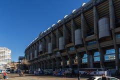 Εξωτερική άποψη του σταδίου του Σαντιάγο Bernabeu στην πόλη της Μαδρίτης, Ισπανία Στοκ φωτογραφία με δικαίωμα ελεύθερης χρήσης