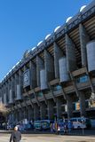 Εξωτερική άποψη του σταδίου του Σαντιάγο Bernabeu στην πόλη της Μαδρίτης, Ισπανία Στοκ εικόνες με δικαίωμα ελεύθερης χρήσης