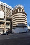Εξωτερική άποψη του σταδίου του Σαντιάγο Bernabeu στην πόλη της Μαδρίτης, Ισπανία Στοκ Εικόνες