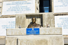 Εξωτερική άποψη του φάρου του Christopher Columbus στο μπλε ουρανό Δυτική ζώνη Santo Domingo, Δομινικανή Δημοκρατία Στοκ φωτογραφία με δικαίωμα ελεύθερης χρήσης
